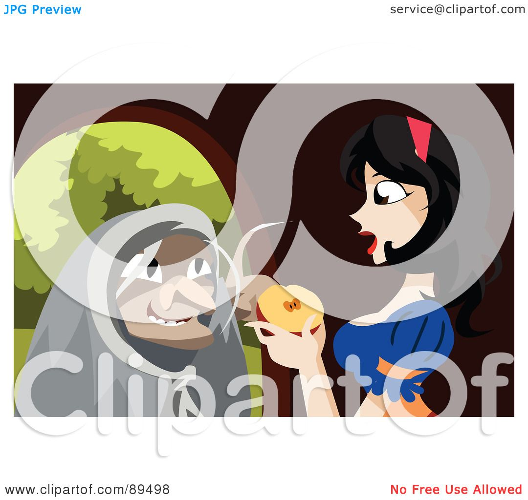 hight resolution of royalty free rf clipart illustration of an old witch urging snow white to
