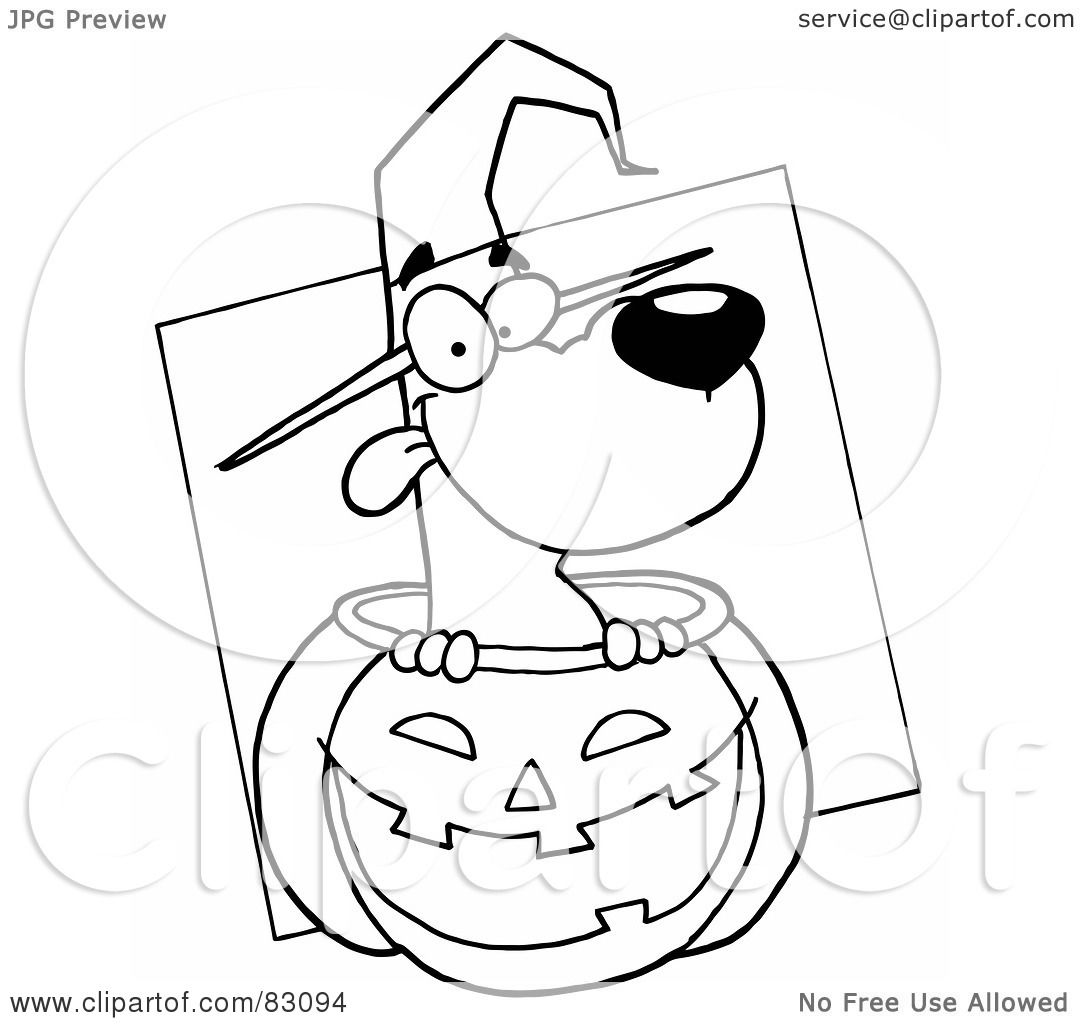 Royalty Free Rf Clipart Illustration Of An Outlined Dog