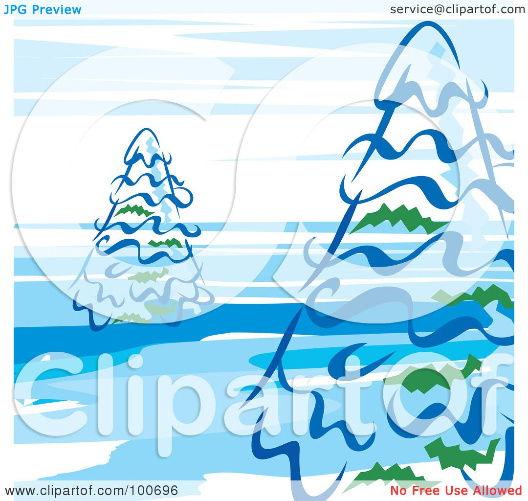 hight resolution of royalty free rf clipart illustration of evergreen trees against a blue and white sky by milsiart
