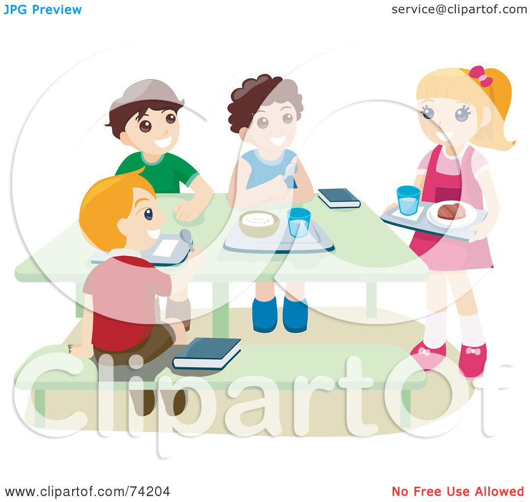 hight resolution of royalty free rf clipart illustration of school children eating hot lunches in a cafeteria by bnp design studio