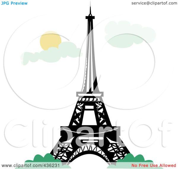 Royalty-free Rf Clipart Illustration Of Eiffel Tower