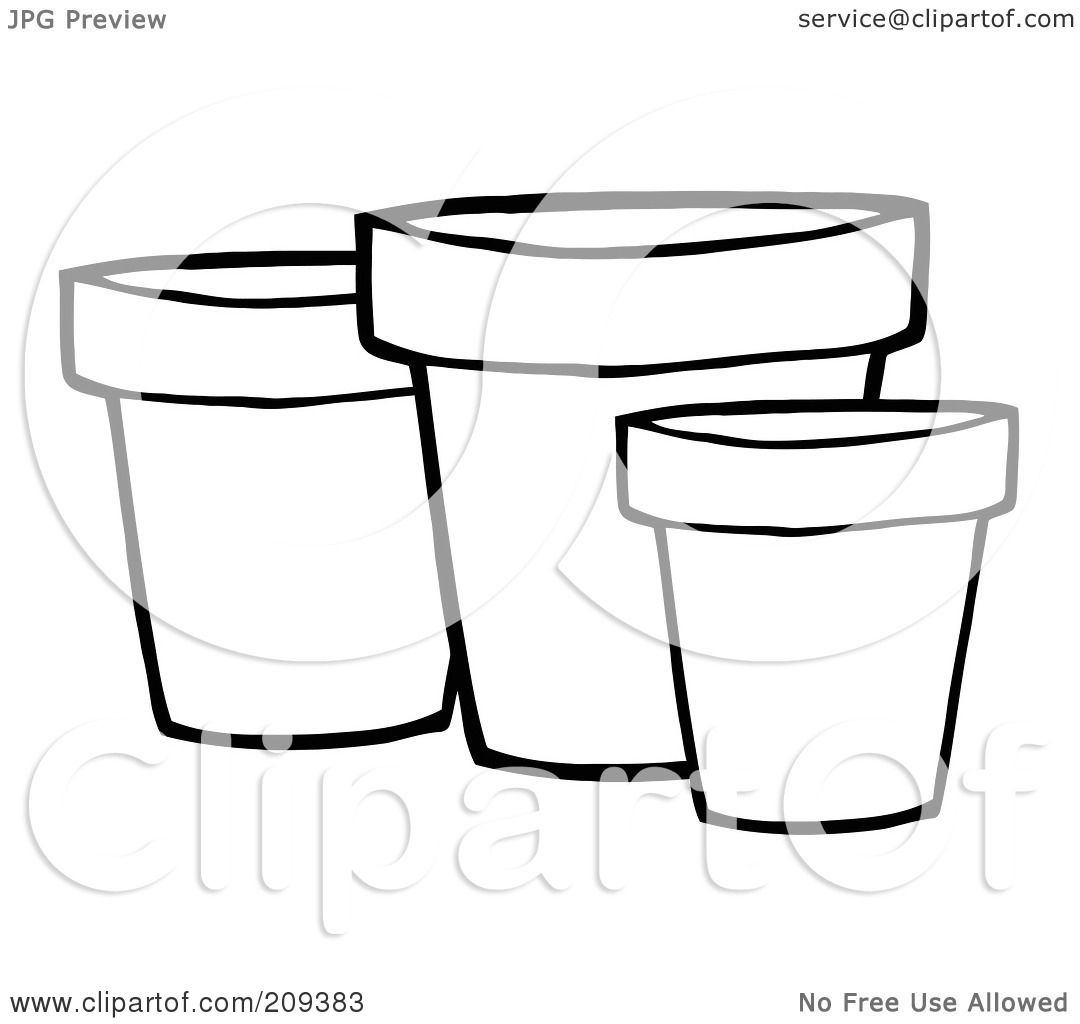 Royalty-Free (RF) Clipart Illustration of Three Outlined