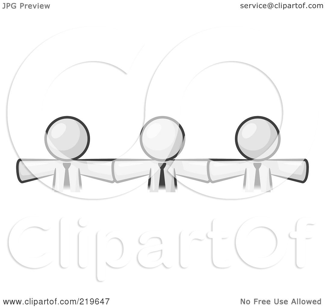 Royalty Free Rf Clipart Illustration Of Three White