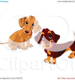 royalty free rf clipart illustration of two dachshund puppies by pushkin [ 1080 x 1024 Pixel ]