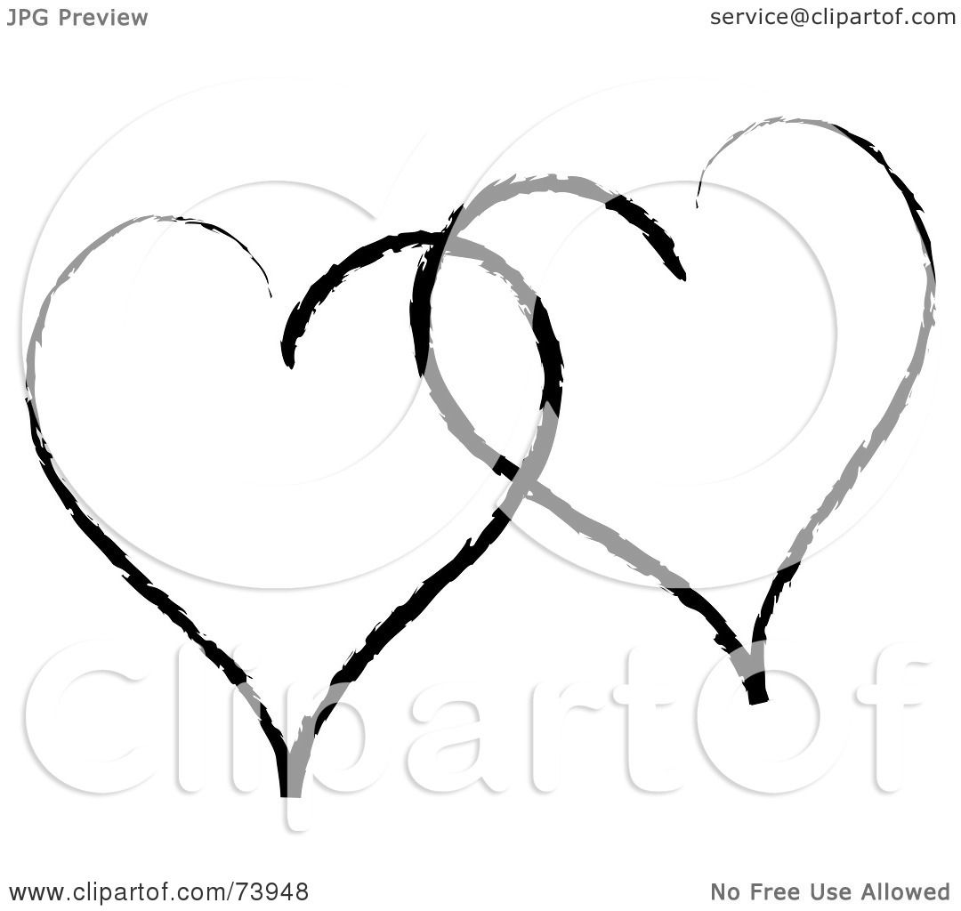 Royalty Free Rf Clipart Illustration Of Two Sketched