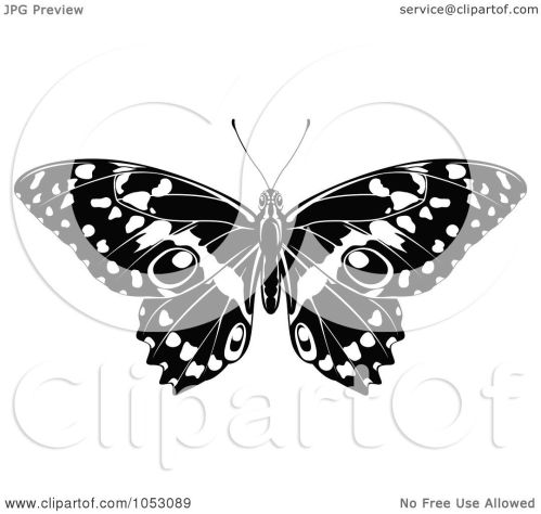small resolution of  black and white butterfly clip art royalty free vector clip art illustration of a