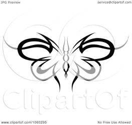 butterfly tribal vector illustration clipart royalty clip tradition sm seamartini graphics clipartof