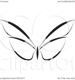 royalty free vector clip art illustration of a black and white butterfly logo 5 [ 1080 x 1024 Pixel ]