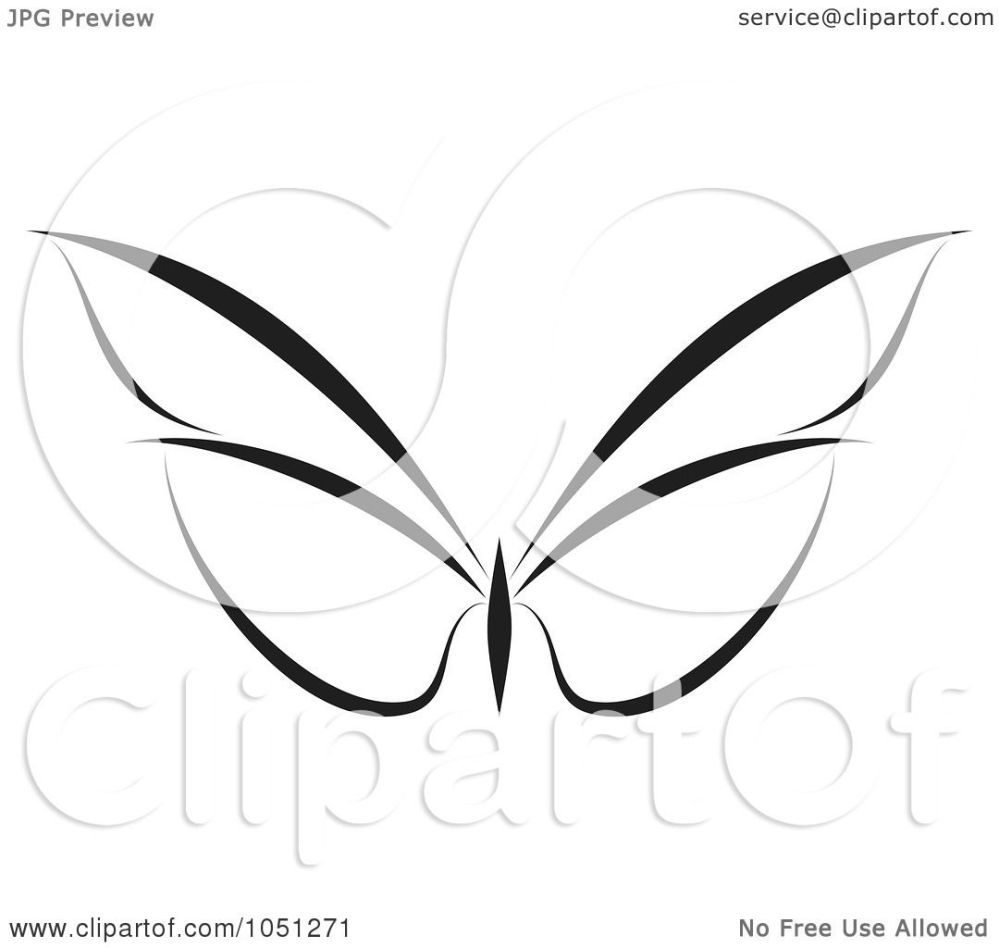medium resolution of royalty free vector clip art illustration of a black and white butterfly logo 5