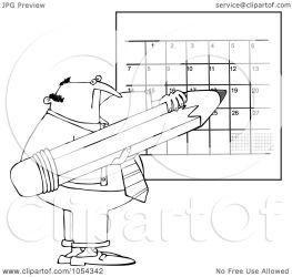 outline calendar writing clip royalty vector djart illustration clipart cox dennis portfolio