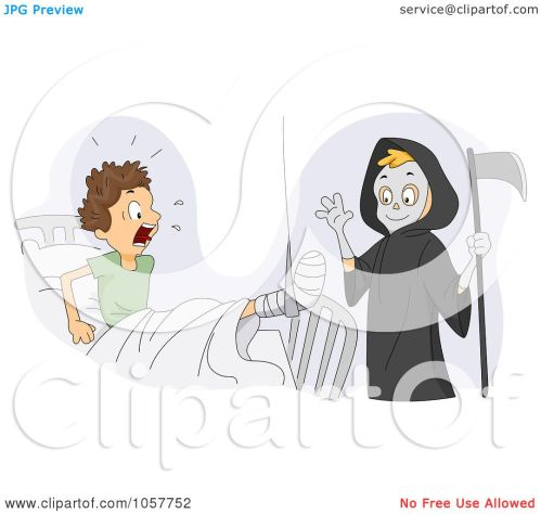 small resolution of royalty free vector clip art illustration of a boy dressed up as the grim reaper scaring his friend by bnp design studio
