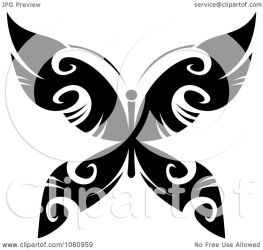 butterfly tattoo unique clip clipart royalty vector illustration designs graphics tradition sm copyright seamartini regarding notes