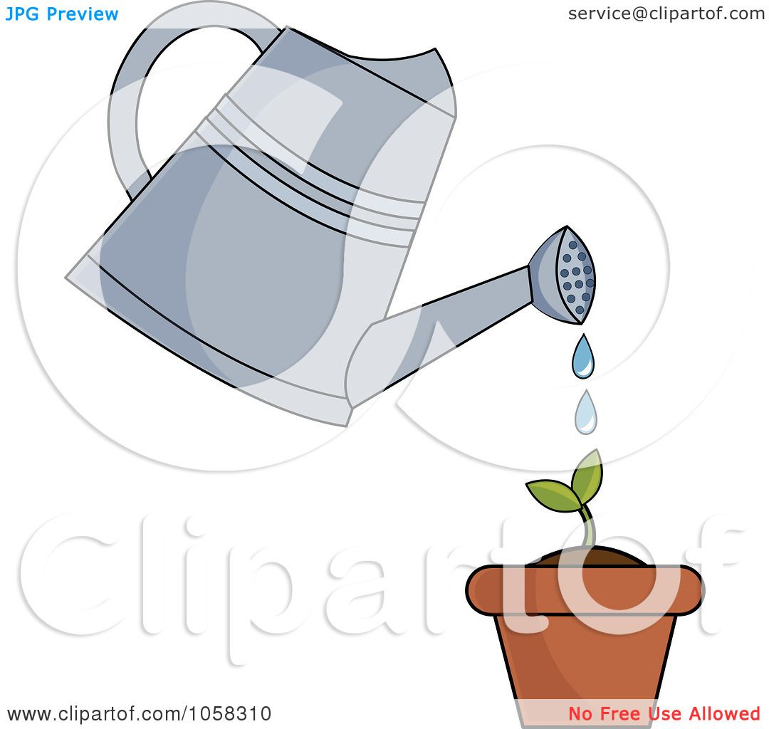 plant diagram clip art onan rv generator parts royalty free vector illustration of a watering