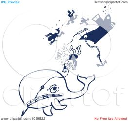 whale harpoon angry clip down whalers taking illustration vector royalty zooco clipart