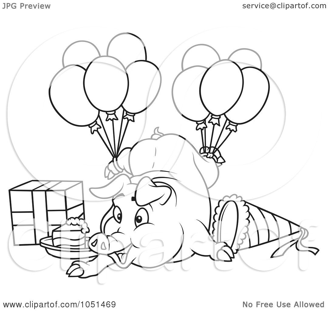 Royalty Free Vector Clip Art Illustration Of An Outline Of