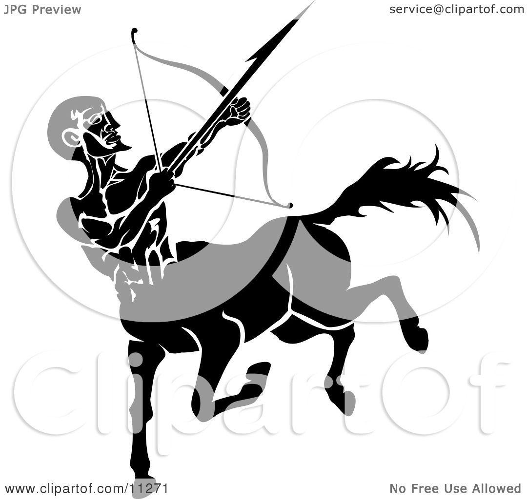 Sagittarius Centaur Of The Zodiac Shooting An Arrow With A