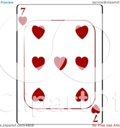 seven 7 of hearts playing card clipart by djart [ 1080 x 1024 Pixel ]