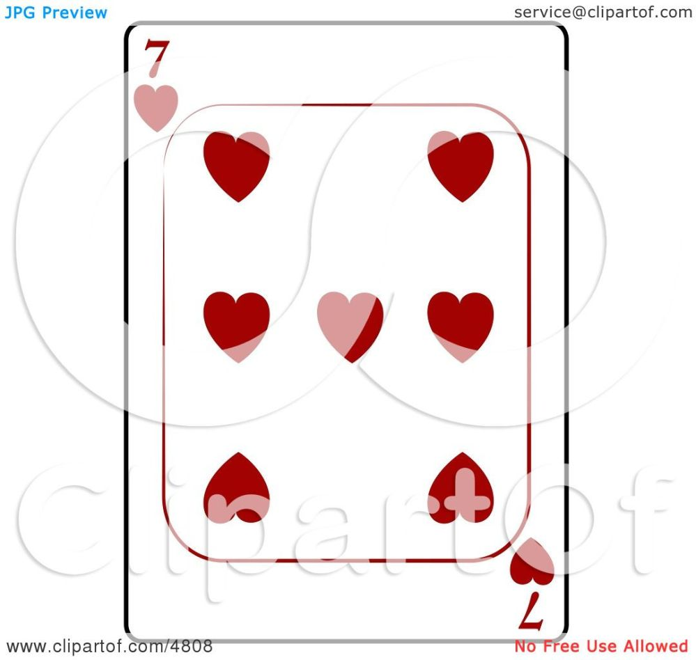 medium resolution of seven 7 of hearts playing card clipart by djart
