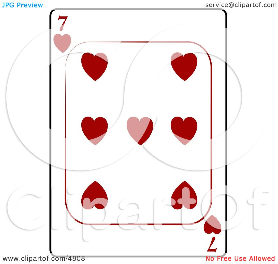 hight resolution of seven 7 of hearts playing card clipart by djart