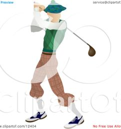 skinny caucasian male golfer golfing on the golf course sports clipart illustration by atstockillustration [ 1080 x 1024 Pixel ]