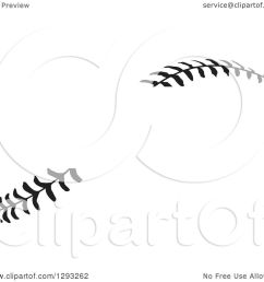 sports clipart of horizontal black and white baseball stitching with a gap for text royalty free vector illustration by johnny sajem [ 1080 x 1024 Pixel ]