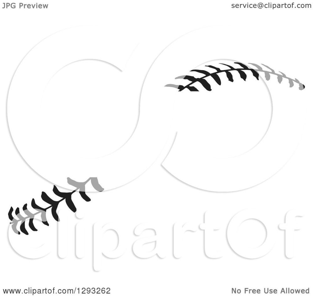 medium resolution of sports clipart of horizontal black and white baseball stitching with a gap for text royalty free vector illustration by johnny sajem