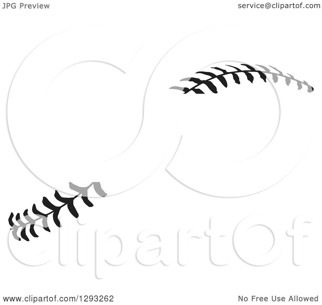 hight resolution of sports clipart of horizontal black and white baseball stitching with a gap for text royalty free vector illustration by johnny sajem