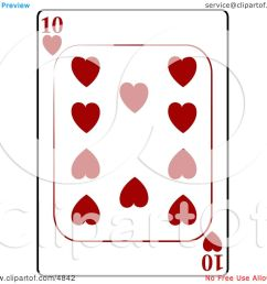 ten 10 of hearts playing card clipart by djart [ 1080 x 1024 Pixel ]