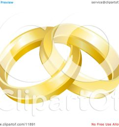two entwined golden wedding rings clipart picture by atstockillustration [ 1080 x 1024 Pixel ]