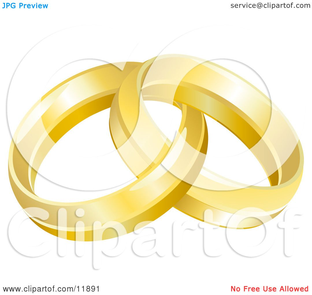 hight resolution of two entwined golden wedding rings clipart picture by atstockillustration