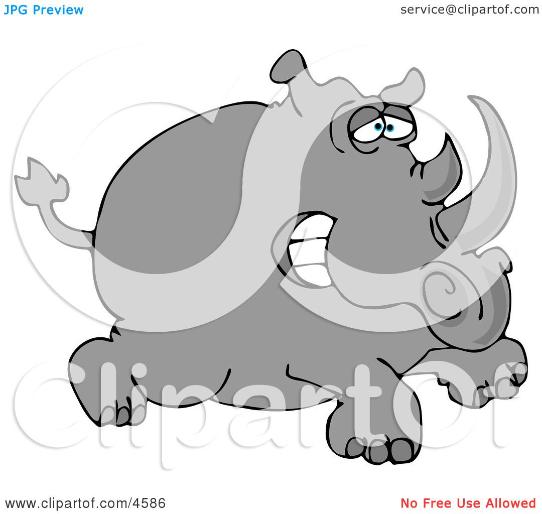 hight resolution of two horned rhino clipart by djart