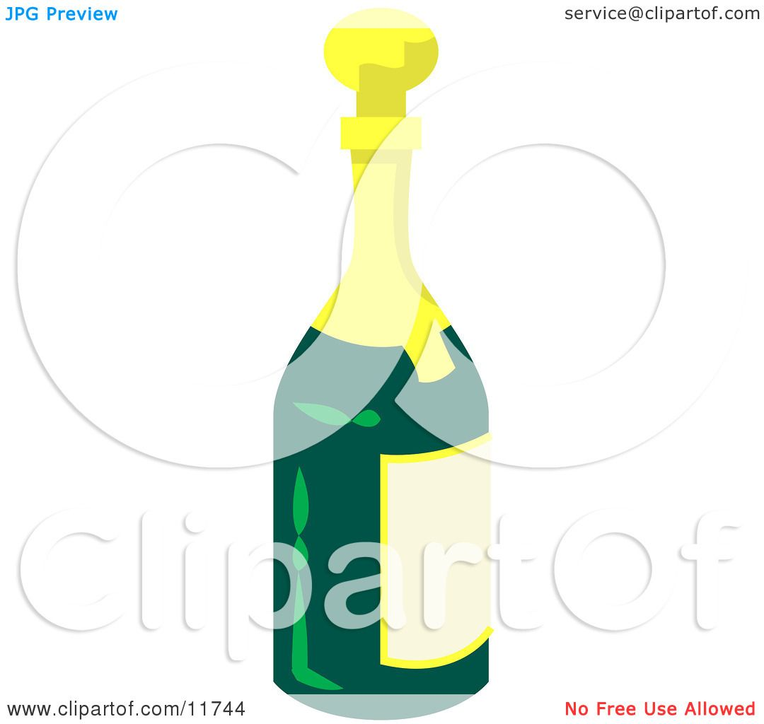 hight resolution of wine champagne or apple cider bottle clipart illustration by atstockillustration