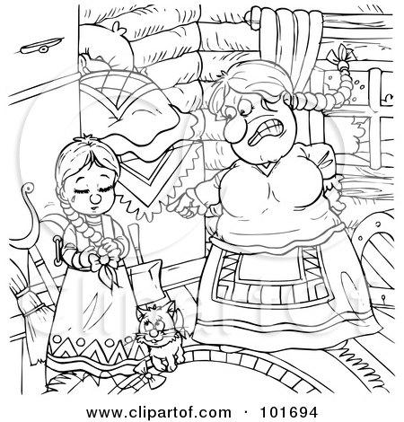 Royalty-Free (RF) Clipart Illustration of a Cartoon Sad