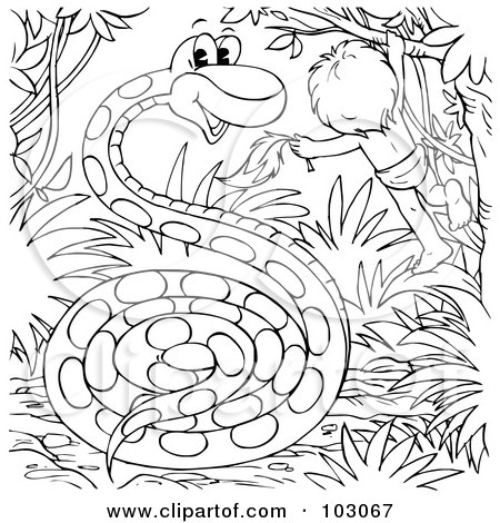 Royalty-Free (RF) Clipart Illustration of a Snake
