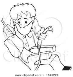 dentist outline clip illustration royalty rf clipart dero regarding notes