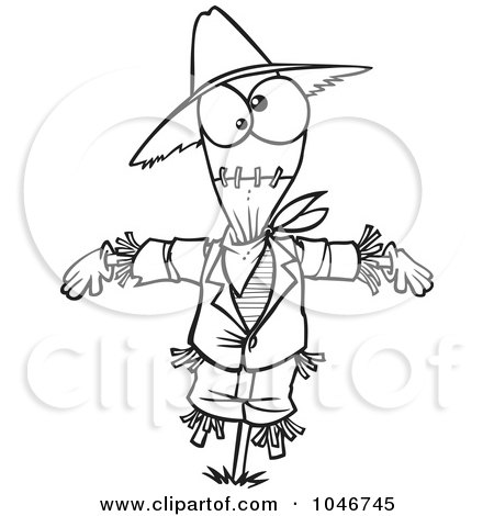 cute scarecrow clipart black