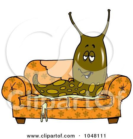 Royalty Free RF Clipart Illustration Of A Mad Slug