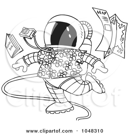 Royalty-Free (RF) Clip Art Illustration of a Cartoon Male