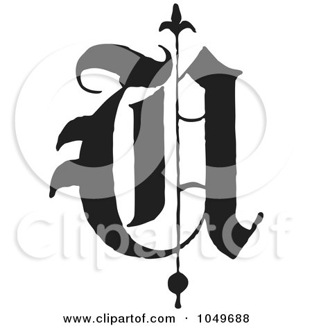 RoyaltyFree RF Clip Art Illustration of a Black And