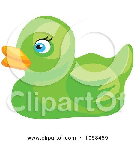 green duck clipart