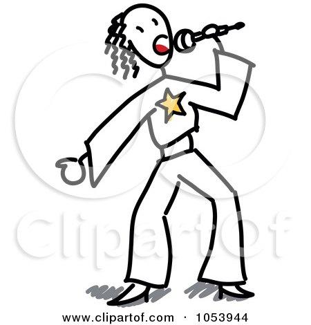 Royalty-Free Vector Clip Art Illustration of a Stick Boy