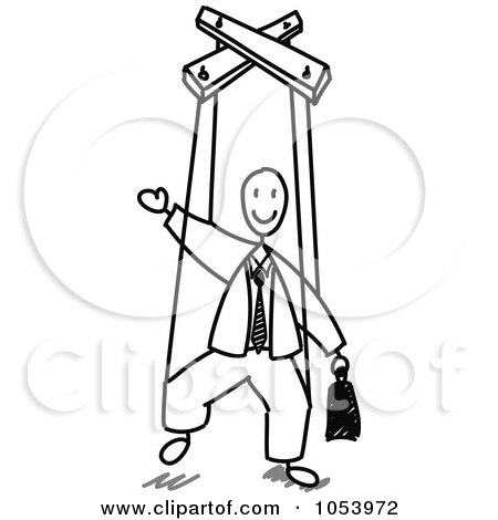 Royalty-Free Vector Clip Art Illustration of a Stick Man