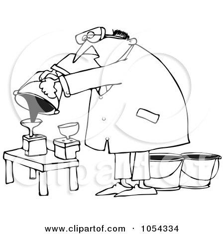 Royalty-Free (RF) Clip Art Illustration of a Man Refilling