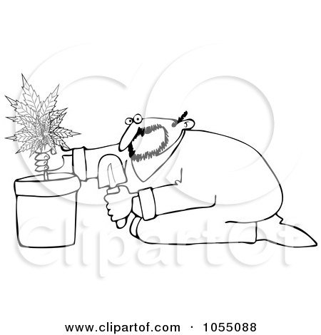 Man Lighting a Cigarette with a Lighter Clipart by djart #5109
