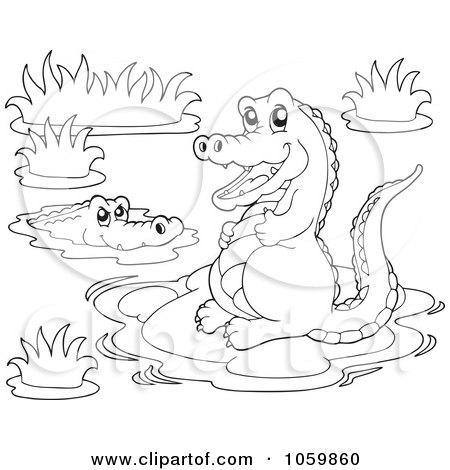 Royalty Free Crocodile Illustrations by visekart Page 2