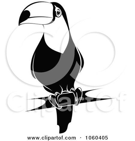 Clipart of a Cartoon Sporty Toucan Bird Tossing up a