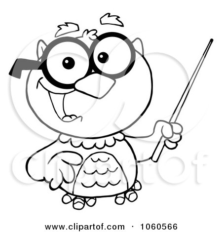 Royalty-Free (RF) Clipart of Professor Owls, Illustrations