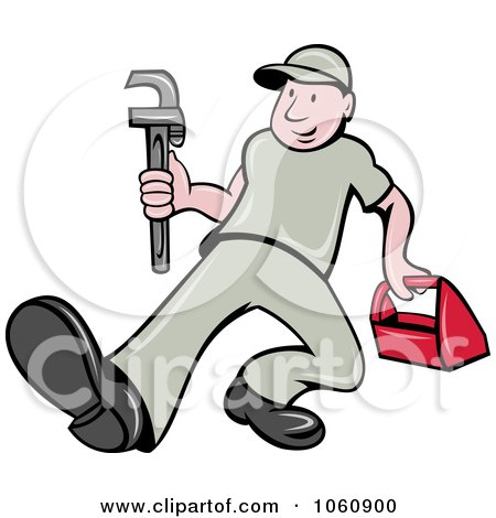 RoyaltyFree RF Plumber Clipart Illustrations Vector