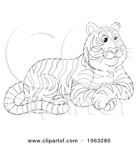 Royalty Free Big Cat Illustrations by Alex Bannykh Page 1