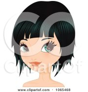 clipart woman with french braid